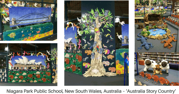 Australia story country library display