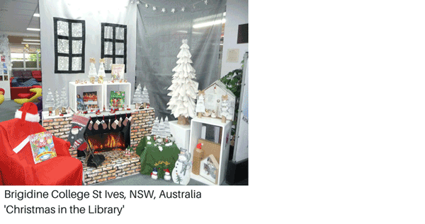 Library Display - Christmas in the library