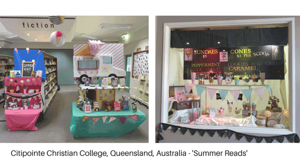 Library display - summer reads