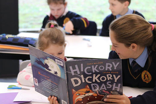 yr 6 read to juniors