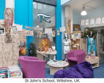 school library display - Egypt