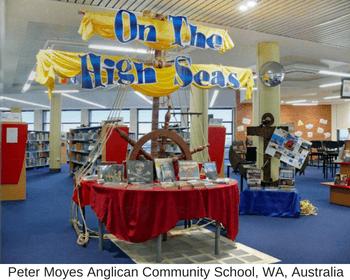 school library display - sea explorers