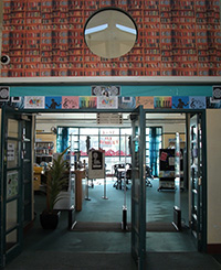 Rangitoto college libary entrance