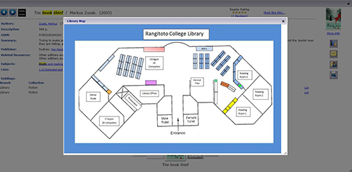 Rangitoto College Library map