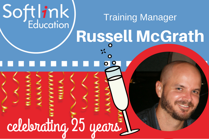 Congratulating Russell McGrath on 25 years with Softlink