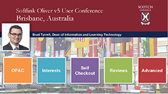 Brad Tyrrell at the Oliver user conference