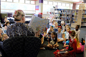 St Aidan's library story time