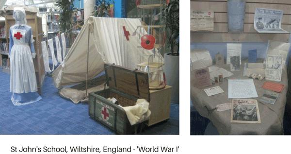 World War I library display