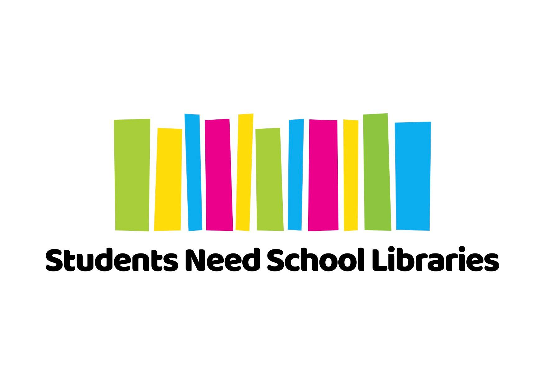 Students Need School Libraries campaign logo.