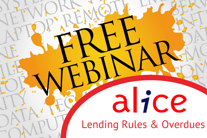 Lending Rules and Overdue Notices - Free webinar for Alice users