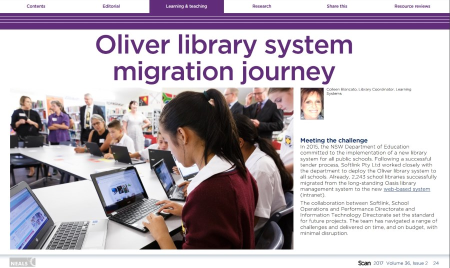 Scan articles provide great ideas for school libraries