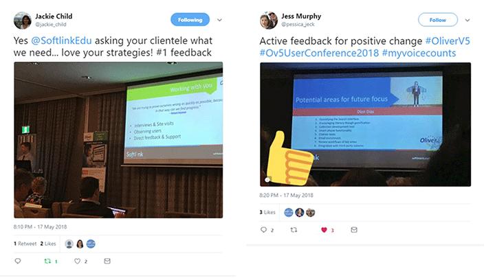 Oliver v5 user conference tweets