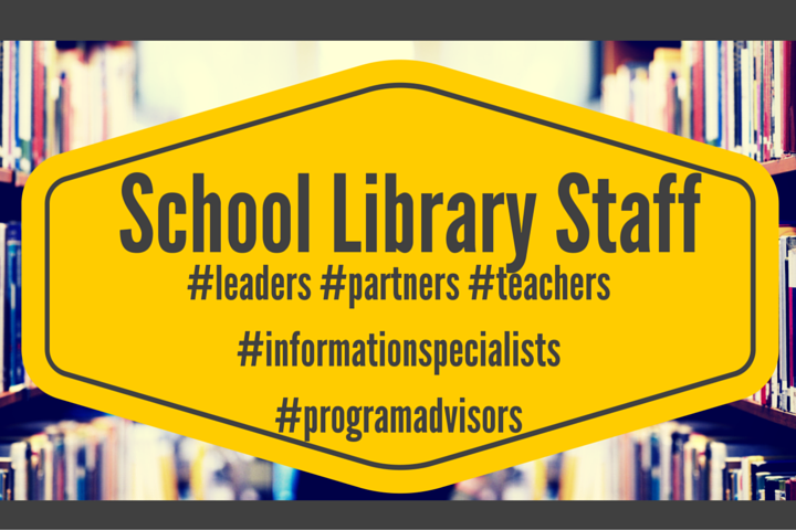 School library staff infographic